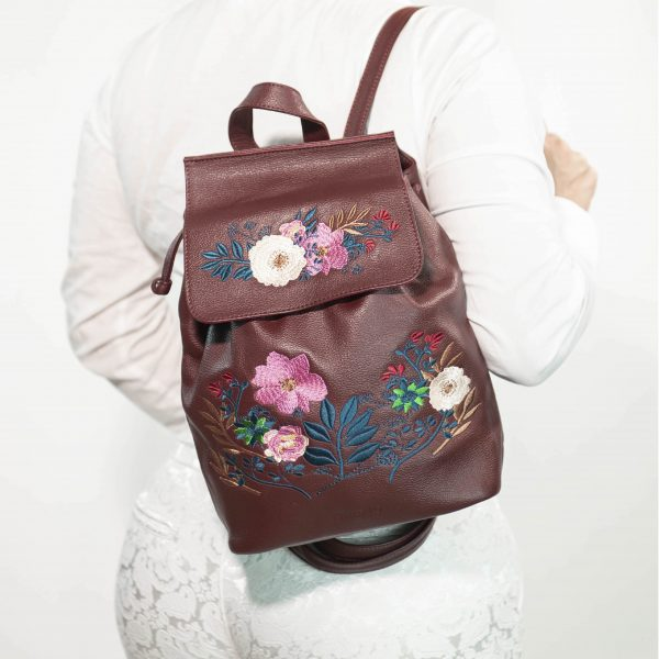 armadillo-leather-handbags-totes-wallets-clutches-backpack-small-leather-goods-accessories-office-travel-gifts-in-canada-burgundy-backpack-embroidery-flowers