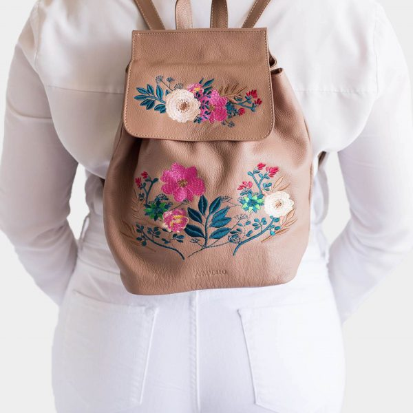 armadillo-leather-handbags-totes-wallets-clutches-backpack-small-leather-goods-accessories-office-travel-gifts-in-canada-almond-tan-embroidery-flowers