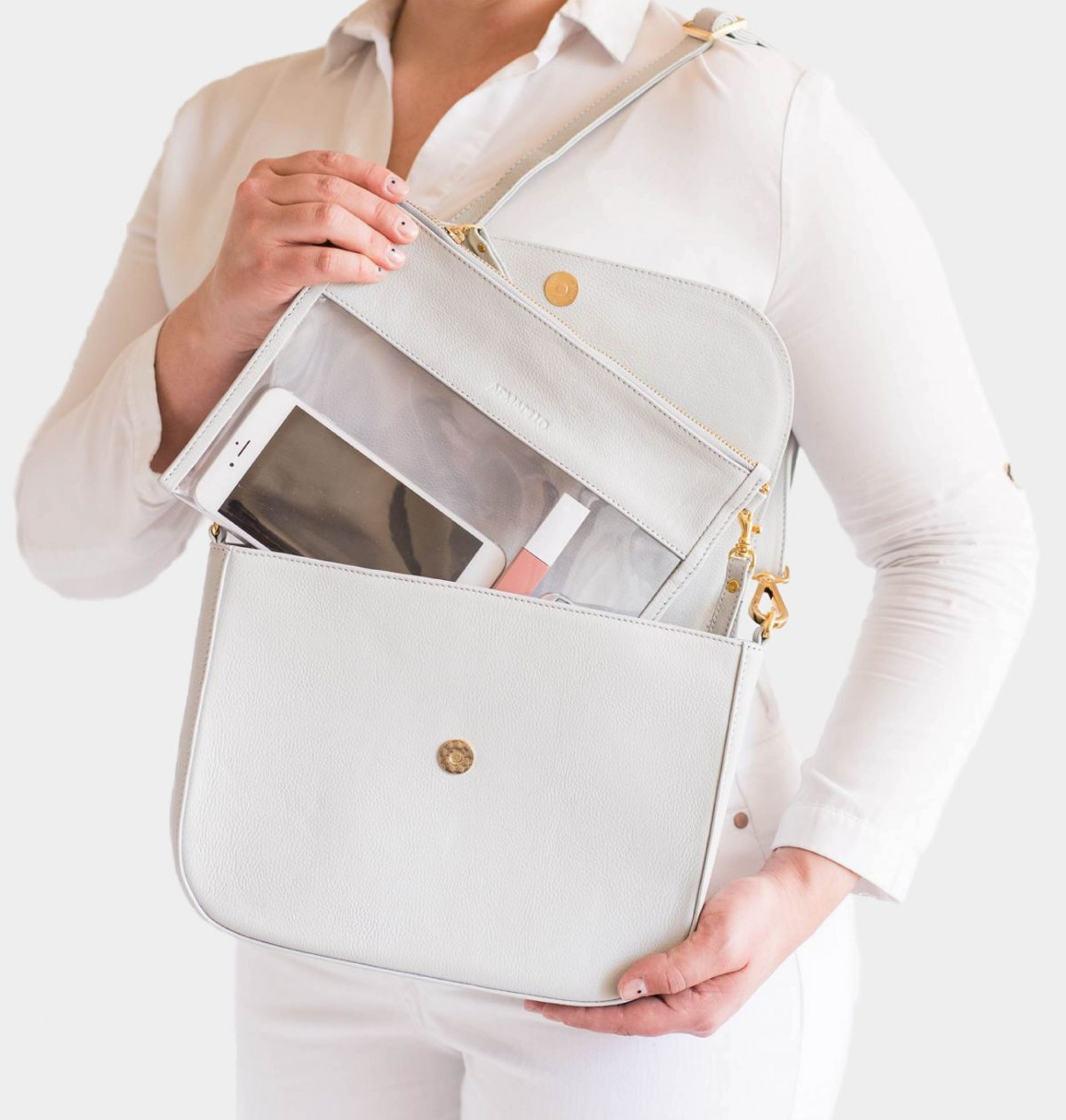 armadillo-leather-handbags-totes-wallets-clutches-backpack-small-leather-goods-accessories-office-travel-gifts-in-canada-nona-grey-light-grey-clutch-crossbody-clear-clutch-set
