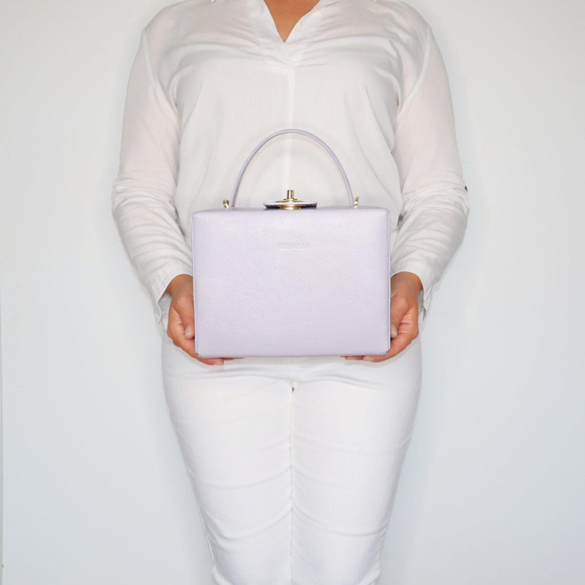 briefcase_box_bag_light_grey_mint_LILAC_grace_kelly_2