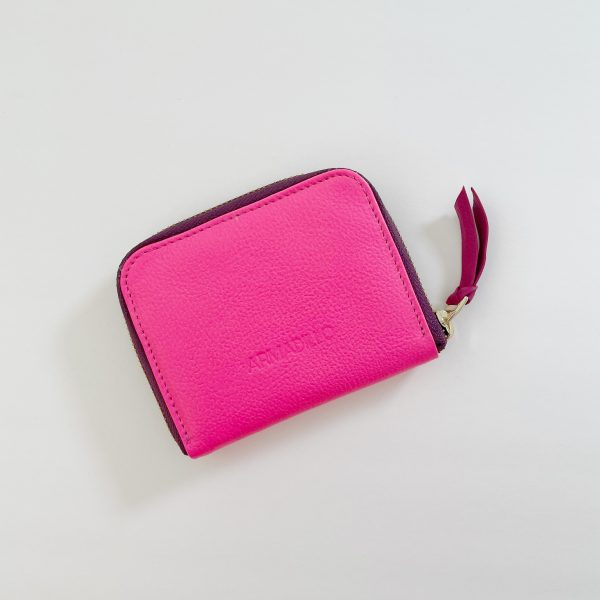 Card_Wallet_leather_Zip_Wallet_Squared_leather_wallet_Fuschia