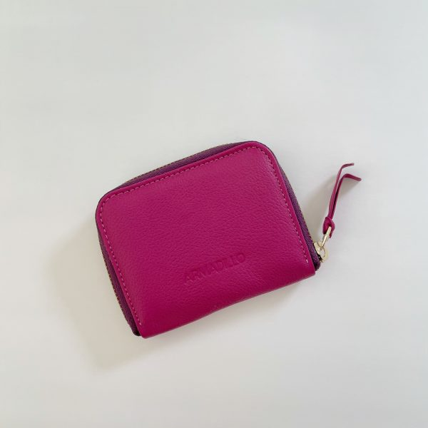 Card_Wallet_leather_Zip_Wallet_Squared_leather_wallet_pink