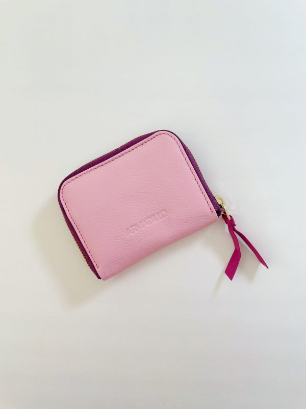 Card_Wallet_leather_Zip_Wallet_Squared_leather_wallet_pink_rose_blush