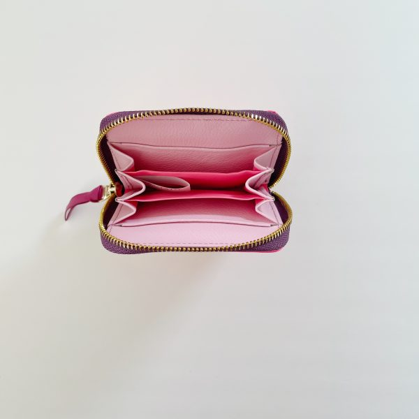 Card_Wallet_leather_Zip_Wallet_Squared_leather_wallet_rose_blush_pink_fuchsia
